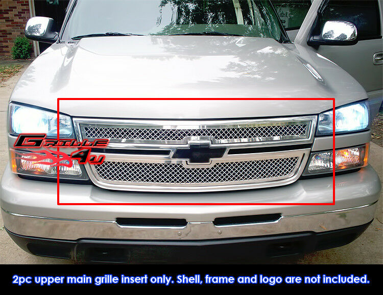fits chevy silverado ss 1500 05 06 2500 3500 mesh grille 06 ebay. Black Bedroom Furniture Sets. Home Design Ideas