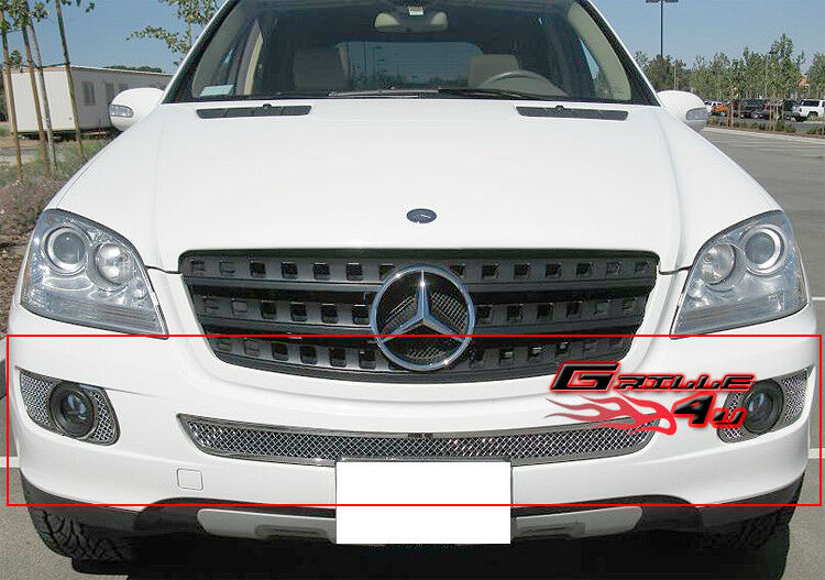 Fits mercedes benz ml350 500 bumper mesh grille 06 08 ebay for Mercedes benz ml350 accessories