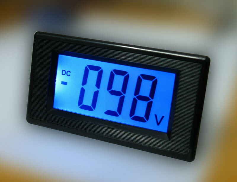 dc 0 500v blue large lcd battery indicator monitor voltage volt meter updated mz ebay. Black Bedroom Furniture Sets. Home Design Ideas