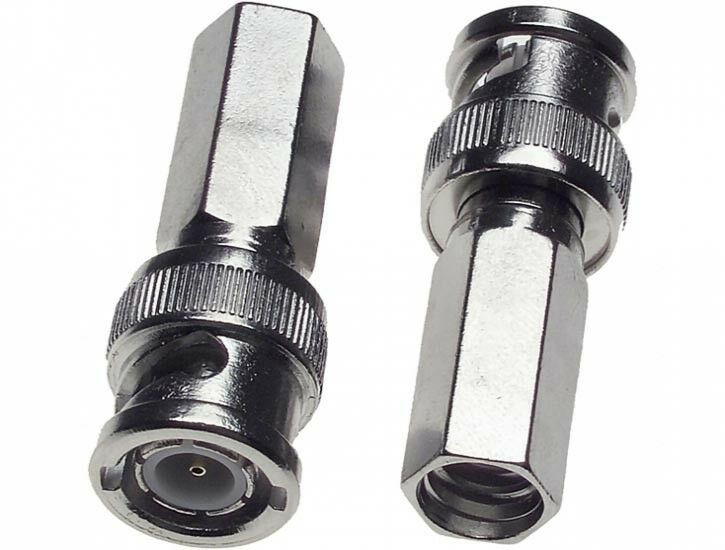 Security Camera Cables And Connectors : Pcs bnc twist on connector for cctv security camera rg