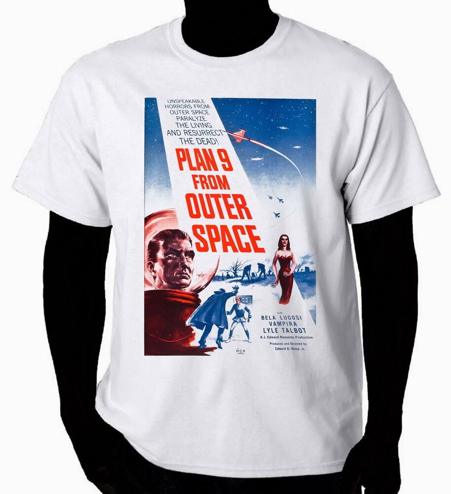 Art t shirt plan 9 from outer space ebay for Outer space clothing