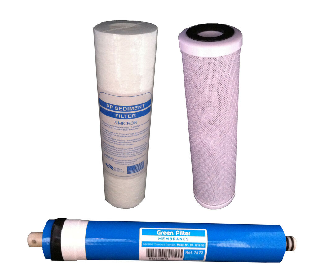 3 Stage Reverse Osmosis Water Filter System Filters X3 Ebay