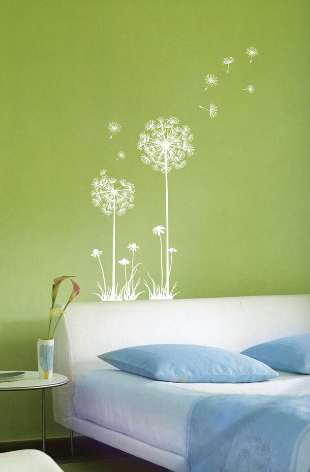 Dandelion Spore Flower Wall Stickers Home Vinyl Decals Ebay