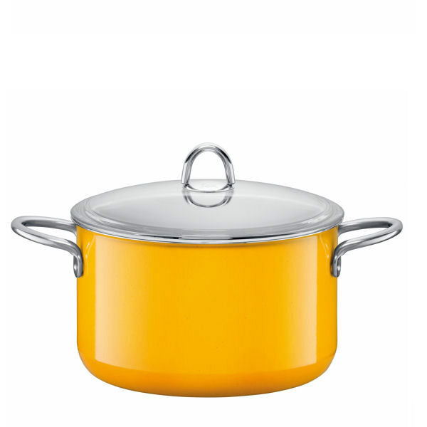 huge silit 7 quart high casserole with lid crazy yellow ebay. Black Bedroom Furniture Sets. Home Design Ideas