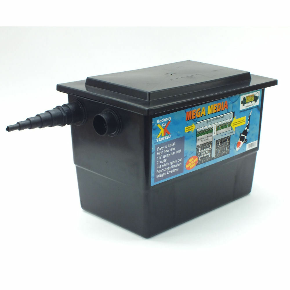 Kockney koi yamitsu mega filter black box koi pond filter for Koi pond filter box