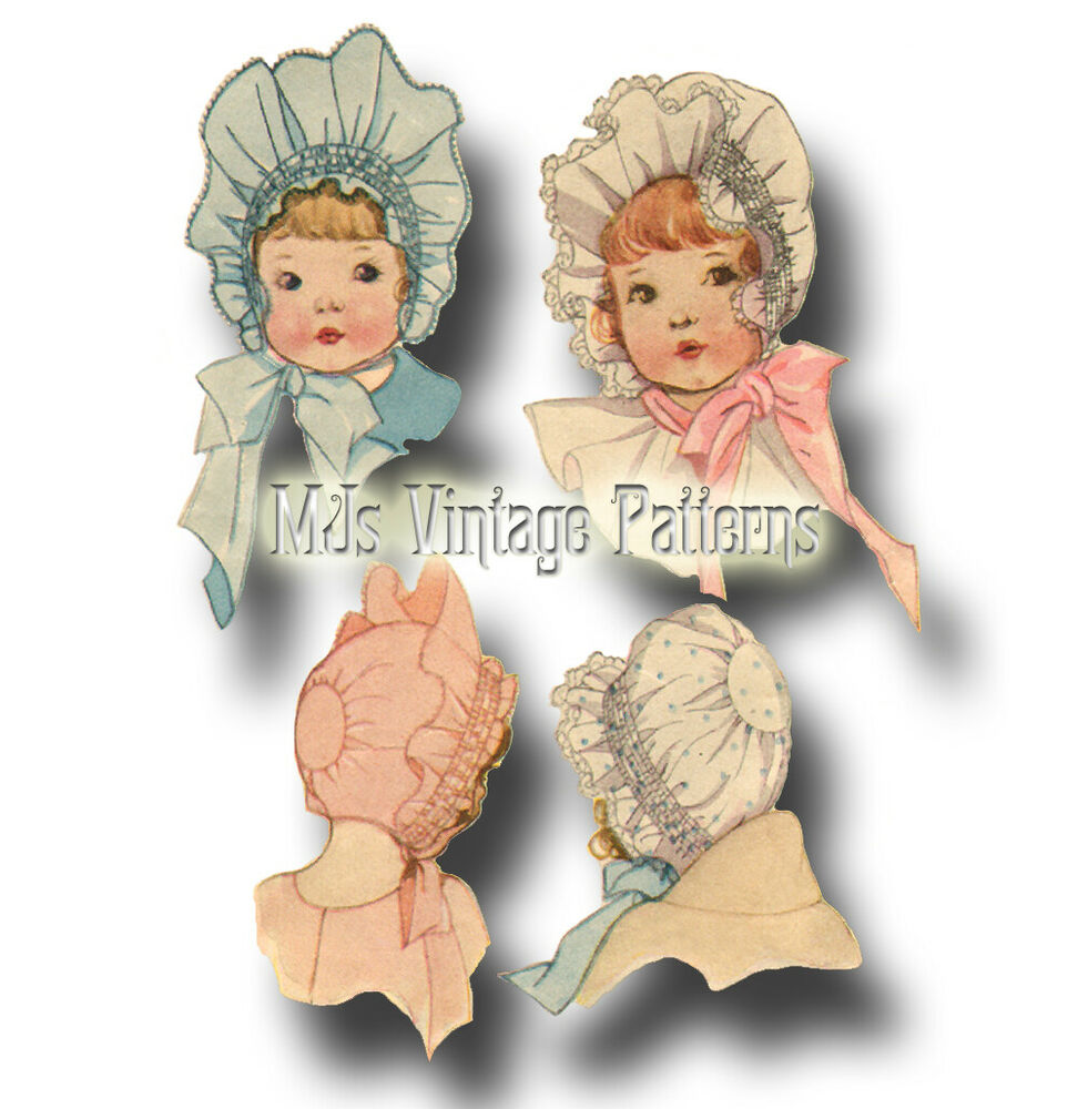 Antique Vintage Baby Bonnet Pattern Sz1 Beautiful Ebay