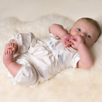 "Baby Beau & Belle ""Tim"" Boys Silk Christening and Baptism Jumpsuit"