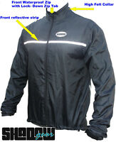 SHADOW Cycling Rain Jacket waterproof cycle bike breathable bib Jacket HI VIZ