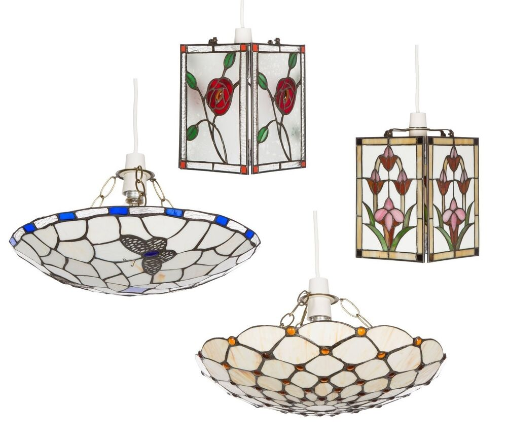 Stained Glass Ceiling Pendant Light Shades Tiffany Style
