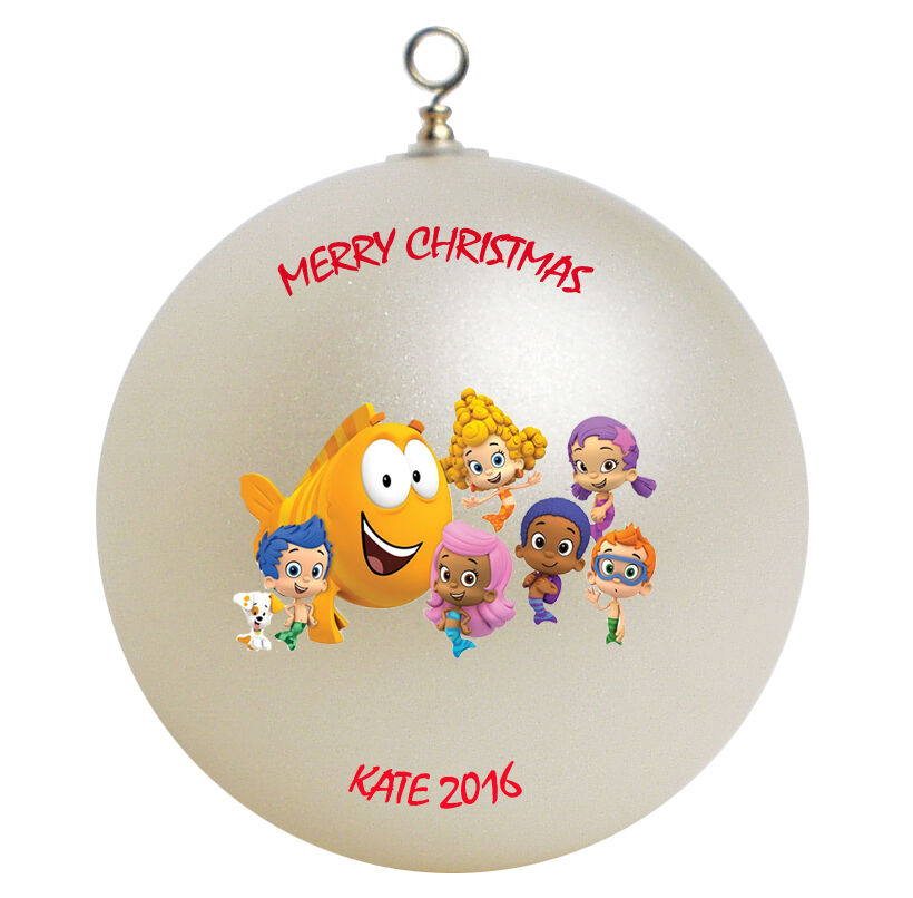 Personalized Custom Bubble Guppies Christmas Ornament Gift Add Childs Name  Here   eBay - Personalized Custom Bubble Guppies Christmas Ornament Gift Add