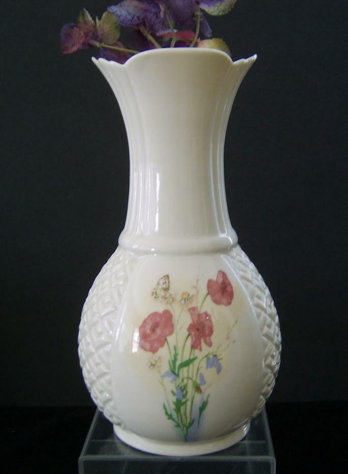 """Donegal Parian Fine China Vase Hand Made Porcelain Ireland 8"""" Tall  eBay"""