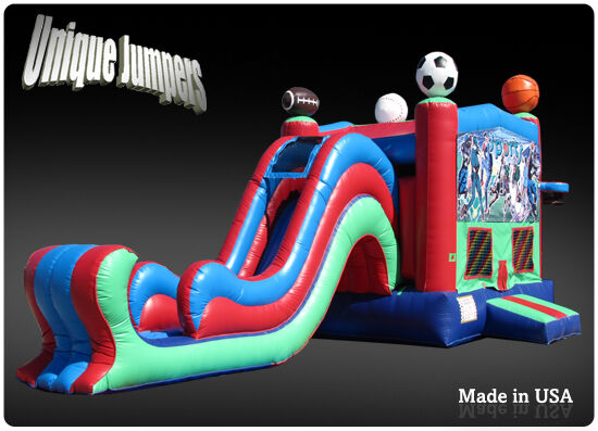 Commercial Inflatable Bounce Houses For Sale Sports Moonbounce Combo And Slide Ebay