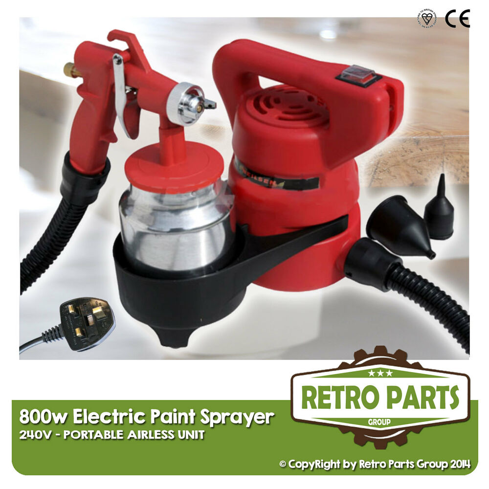 800w airless electric paint sprayer 240v ideal for furniture. Black Bedroom Furniture Sets. Home Design Ideas