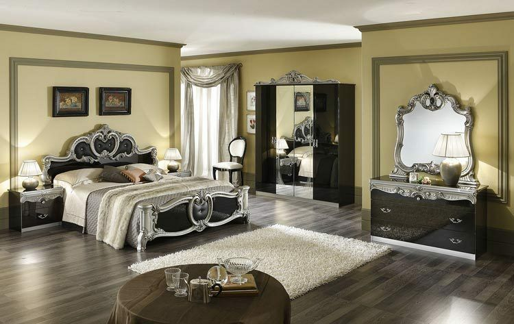 komplett schlafzimmer barocco stilm bel italien hochglanz. Black Bedroom Furniture Sets. Home Design Ideas