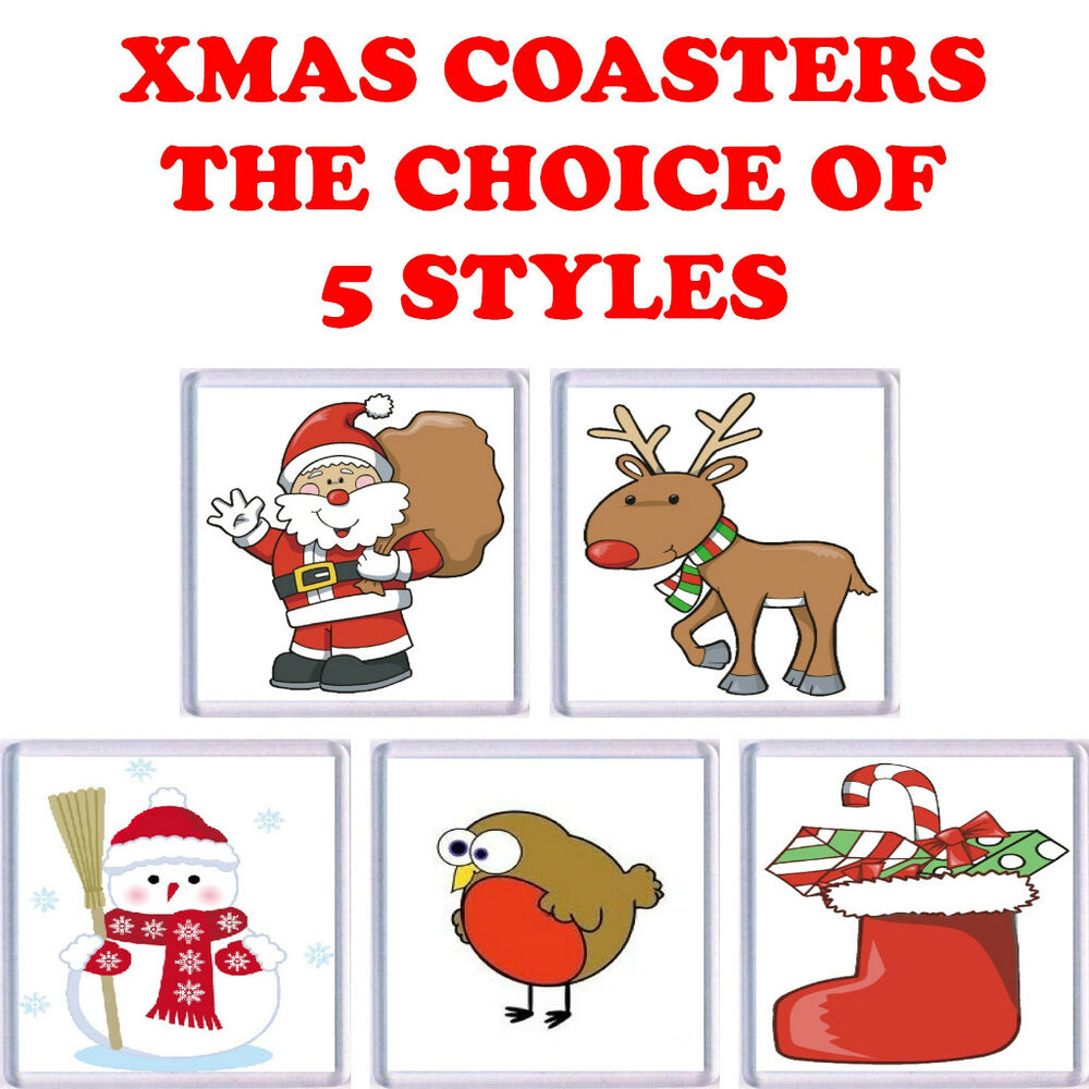 Fun Christmas Drinks Coaster Choice Of 5 Styles Ebay
