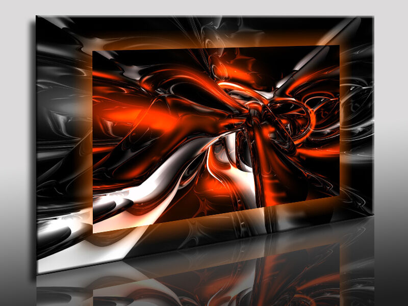abstrakt 3d leinwandbild kunstdrucke leinwandbilder wandbilder deko poster ebay. Black Bedroom Furniture Sets. Home Design Ideas