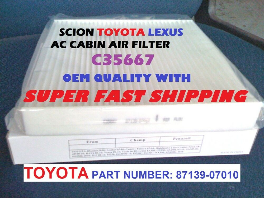 for scion toyota ac cabin air filter avalon camry tundra sienna prius fast ship ebay. Black Bedroom Furniture Sets. Home Design Ideas