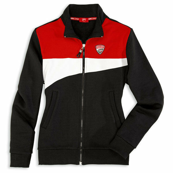 ducati corse 12 damen sweatshirt jacke sweatjacke pullover lady neu. Black Bedroom Furniture Sets. Home Design Ideas