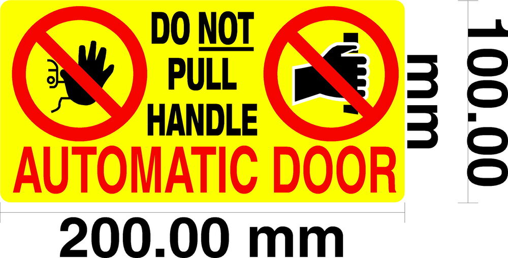 Automatic Door Do Not Pull Door Handle Taxi Private