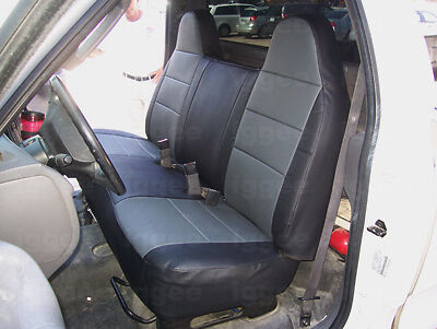 ford f150 f250 f350 1995 2012 leather like seat cover ebay. Black Bedroom Furniture Sets. Home Design Ideas