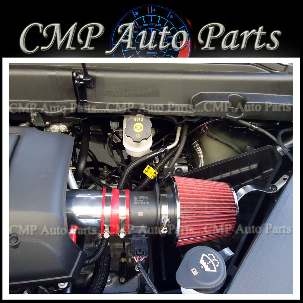 Red 2007 2011 Gmc Acadia Denali Sl Sle Slt 3 6 3 6l V6 Air Intake Kit Ebay