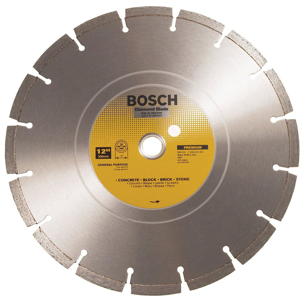 Bosch Db1441 14 Inch Wet Cutting Segmented Diamond Saw