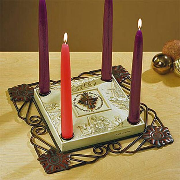 abbey press star of christmas advent candleholder with. Black Bedroom Furniture Sets. Home Design Ideas