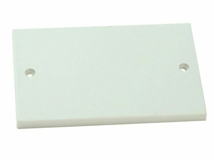 White Double Two Gang Blank Cover Socket Blanking Plate
