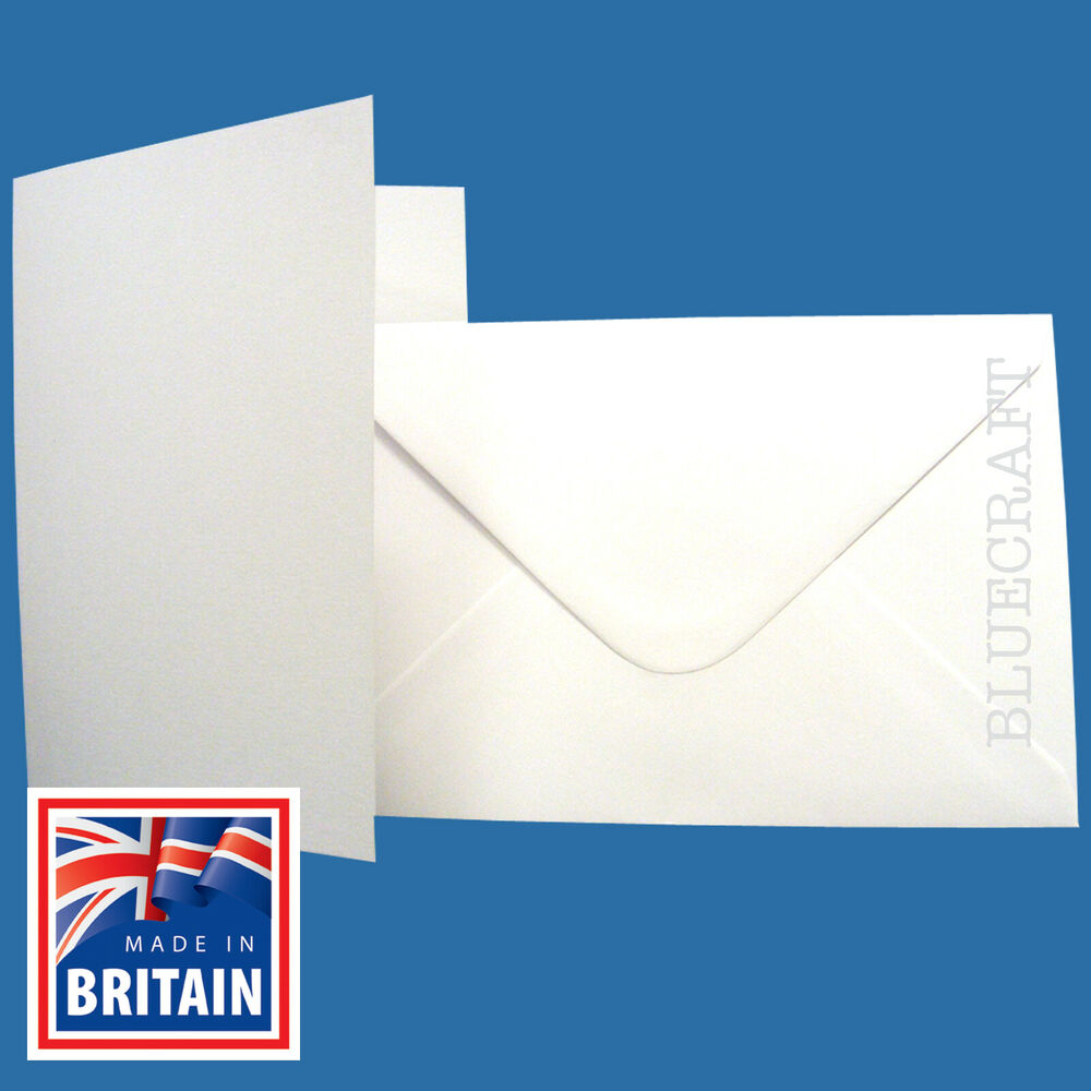 50 X A6 White Blank Greetings Cards With C6 Envelopes