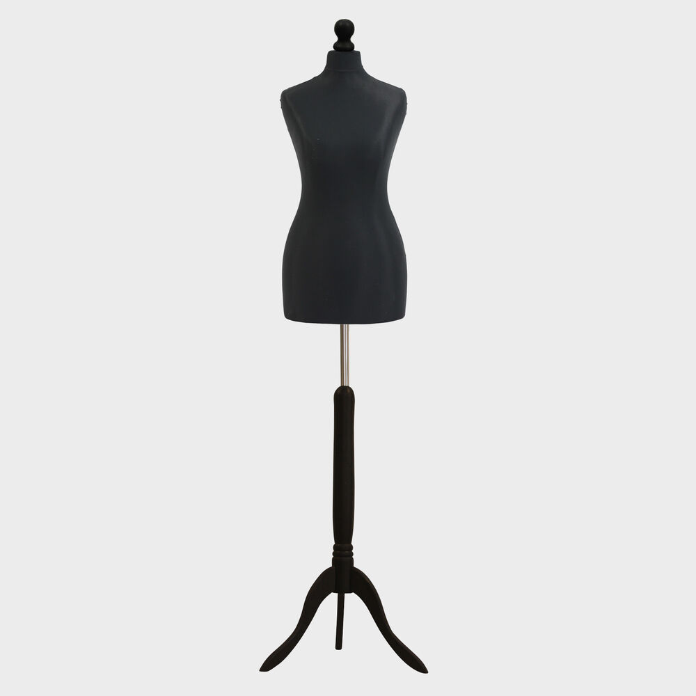 female tailors dummy black dressmakers fashion students mannequin display bust ebay. Black Bedroom Furniture Sets. Home Design Ideas