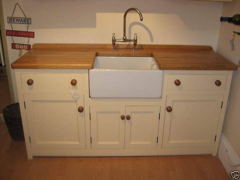 1830 X 600 MURDOCH TROON FREESTANDING PINE KITCHEN BELFAST SINK UNIT OAK WORK