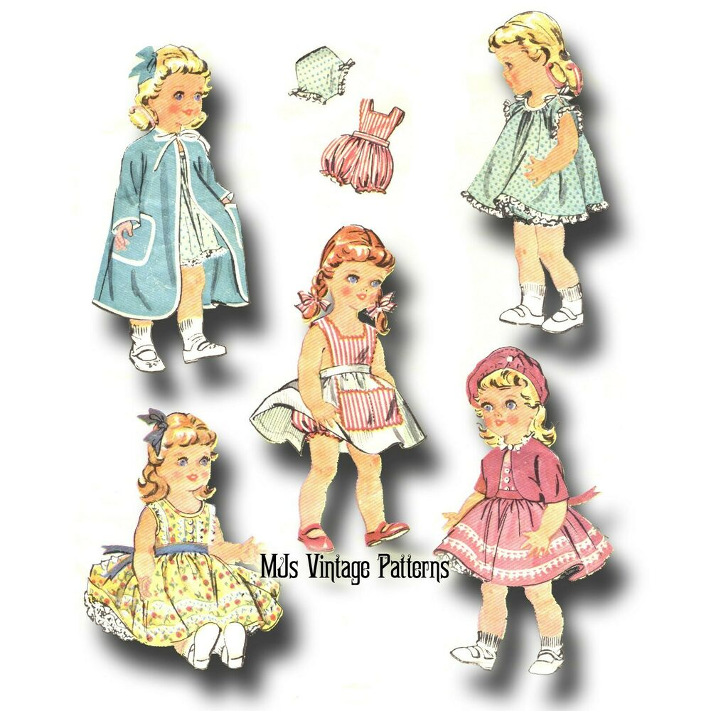 """Vtg 1950s Pattern Baby Doll Clothes ~ 16"""" Terri Lee, Saucy"""