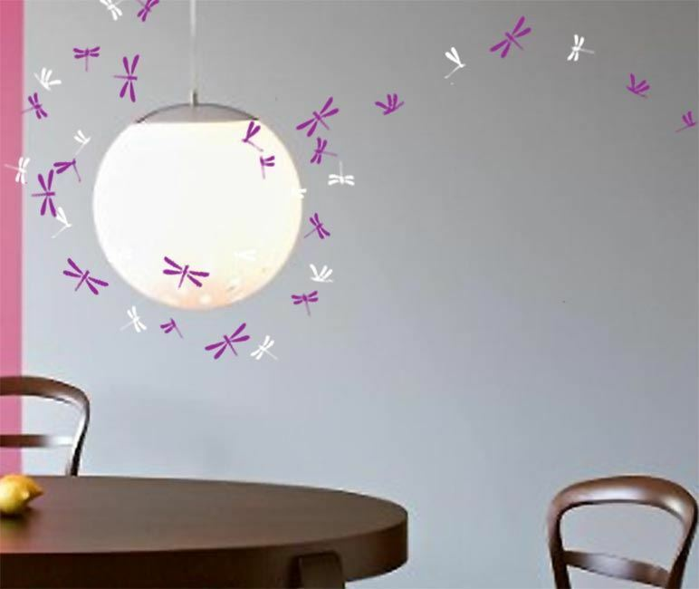 44 Dragonfly Wall Art Stickers Kids Decal 2 colours Bedroom Window ...