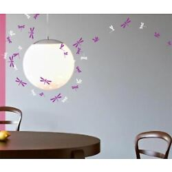 44 Dragonfly Wall Art Stickers Kids Decal 2 colours Bedroom Window Decorations
