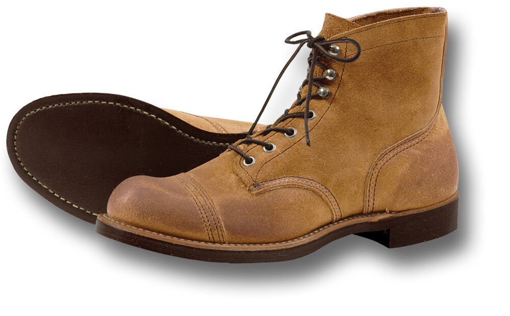 RED WING SHOES 8113 IRON RANGER WORK BOOTS, TAN SUEDE [72207] | eBay