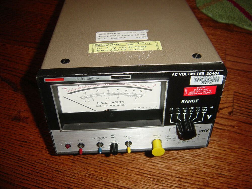 Use A Voltmeter : Ballantine ac voltmeter a used working condition true