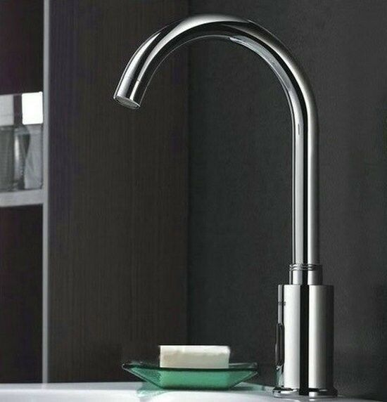 Electronic bathroom faucet - Automatic Electronic Hands Free Mixer Sensor Tap Faucet 4 Bathroom