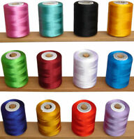 12 Large Spools of Rayon Embroidery Thread *500meters Each Spool