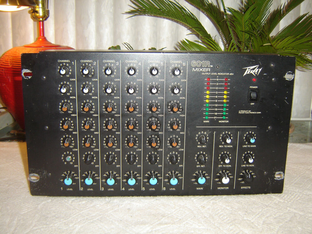 Peavey 601r 6 Channel Mixer With Spring Reverb 3 Band