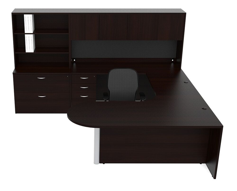 oak finish set l lik executive costco office of contemporary shaped desks with raw gorgeous glass return hutch u absolute t full large desk laminate computer size modern furniture compact