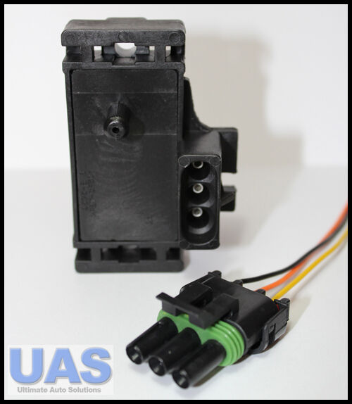 GM 2BAR    MAP       SENSOR    TURBO BOOST WITH PLUG   WIRES 12247571