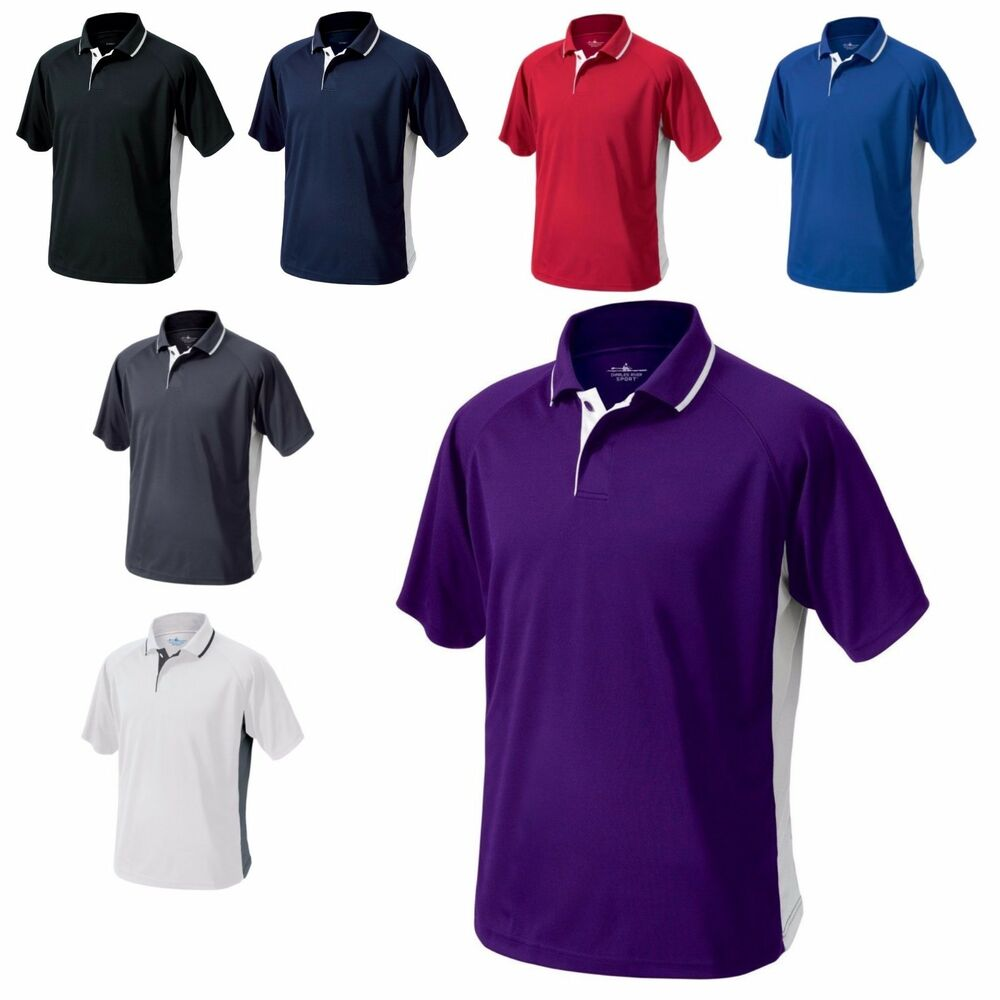 Men 39 s color block high performance polo shirt wicking for Mens 5x polo shirts