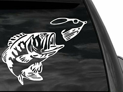 bass fishing car or truck window decal 12 x9 ebay