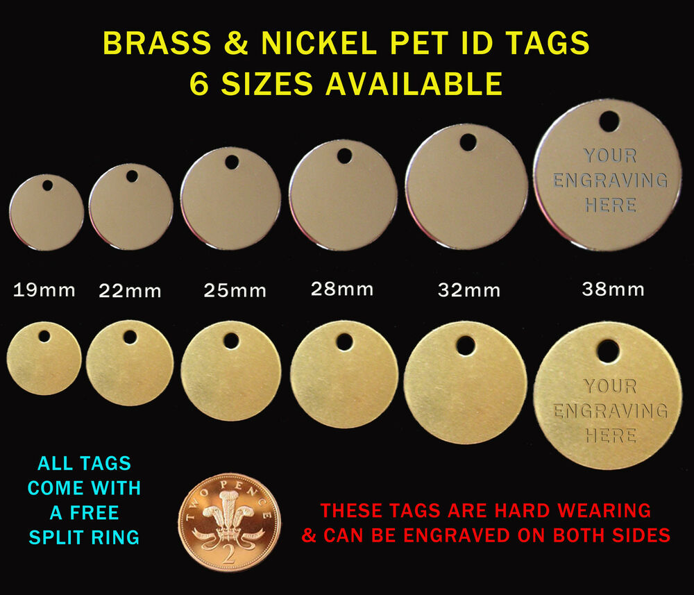 Nickel Amp Brass Pet Id Tags Identity Tag Engraved