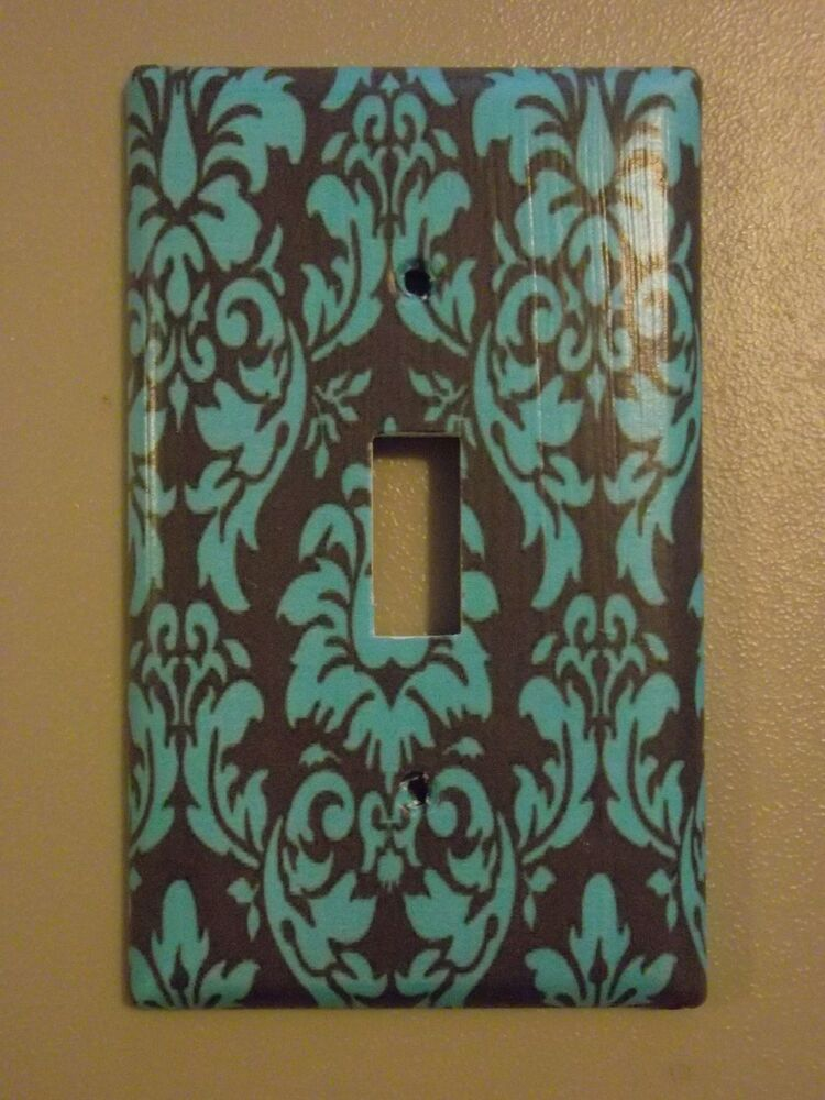 decorative light switch covers brown and blue damask light switch cover ebay 29476