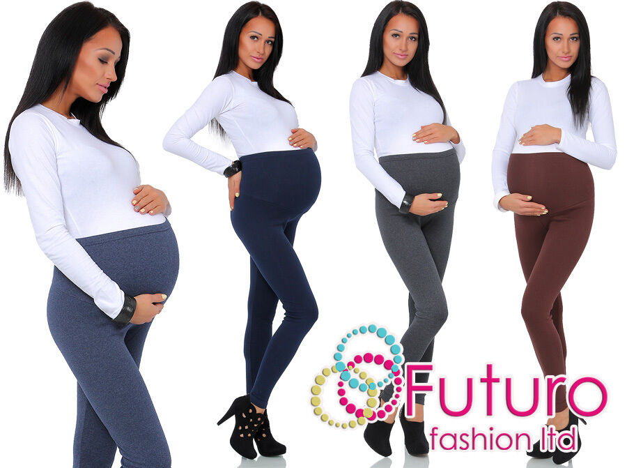 Thick Comfortable Maternity Cotton Leggings Full Ankle ...