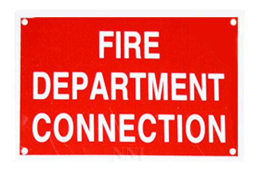 Fire department connection quot fdc aluminum sprinkler