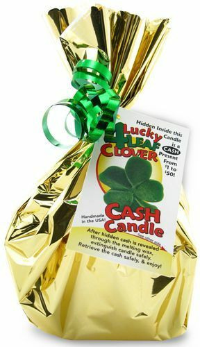 Four Leaf Clover Cash Candle - Money Candle with REAL ...