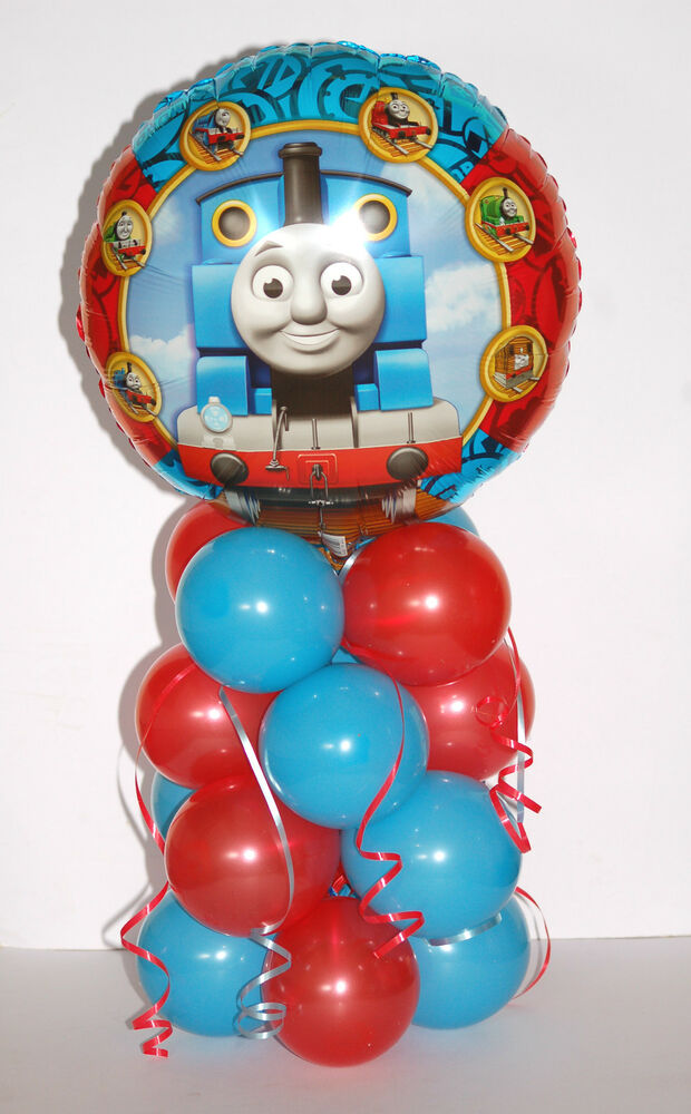 Thomas the tank engine foil balloon display table
