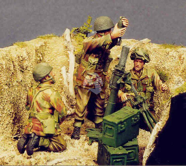 resicast 1  35 3 inch mortar and airborne crew  4 figures  u0026 1 mortar  355509